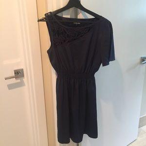 Gianni Bini one shoulder navy dress medium